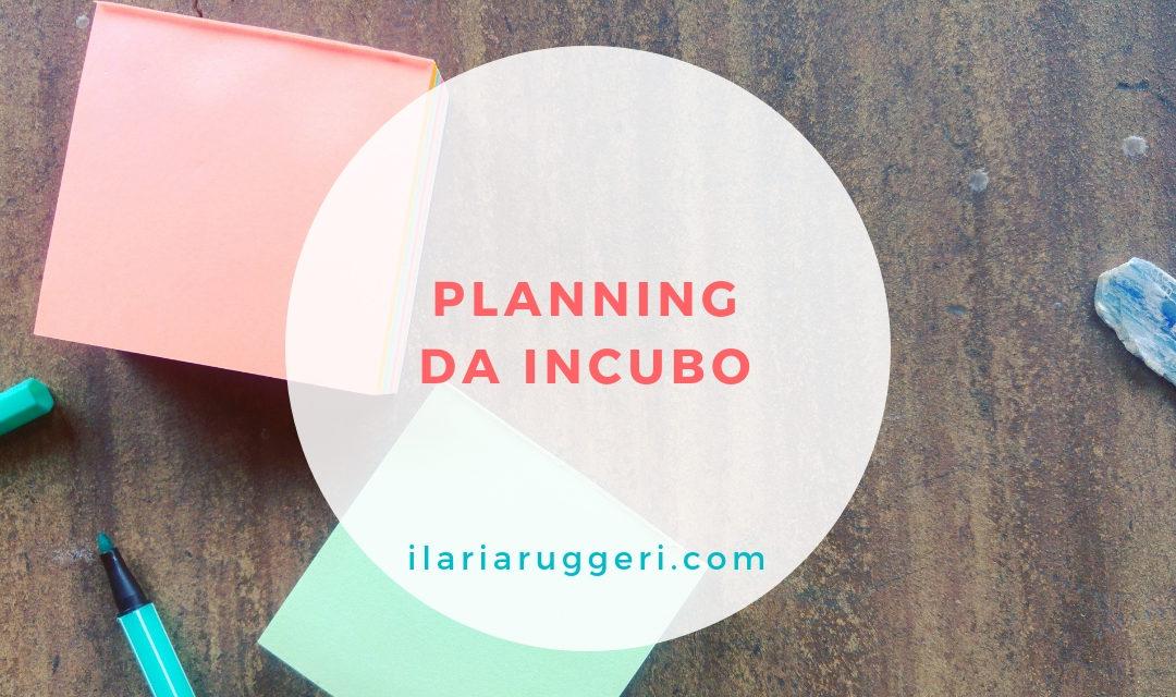PLANNING DA INCUBO